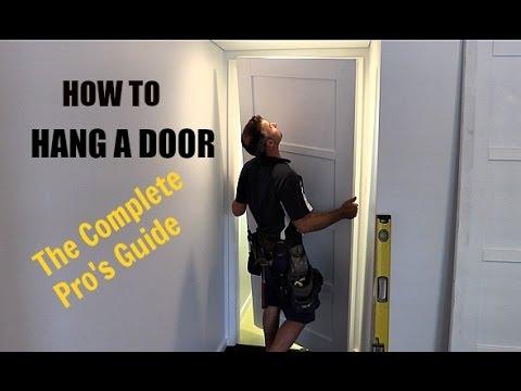 How To Install An Internal Door Plus Lock Complete Beginers