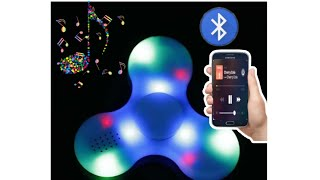 BLUETOOTH FIDGET SPINNER WITH BLUETOOTH SPEAKER || UNBOXING AND TEST || BEST BLUETOOTH SPINNER