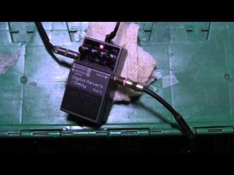 Boss RV-3 Digital Reverb and Delay on bass guitar