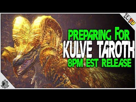 🔴 KULVE TAROTH FREE DLC RELEASE AT 8PM EST!  Monster Hunter World PS4 Pro