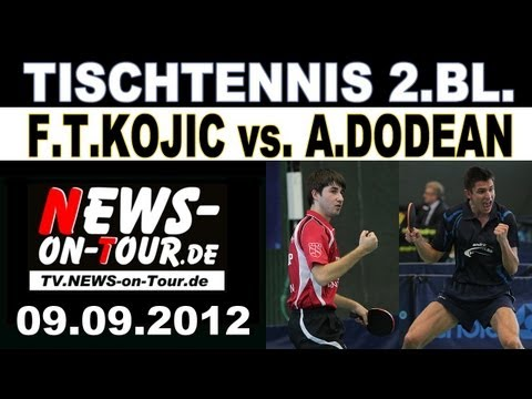 2.TT-BL: Frane Tomislav Kojic vs. Adrian Dodean   TTC Schwalbe Bergneustadt   SV Union Velbert