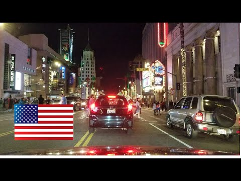 Dash Cam Tours🚘 - Los Angeles at Night. No music, no talking