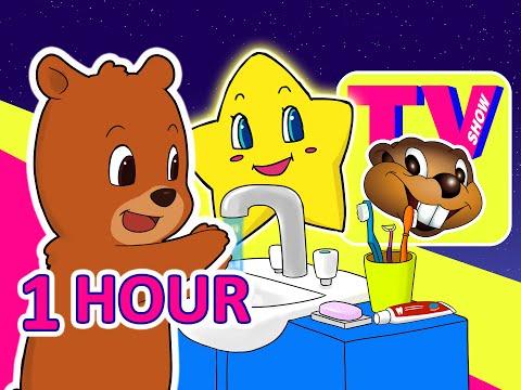 Kids 1 Hour TV Show   Busy Beavers BBTV S1 E3 & E4   Teach Kindergarten Learning Video