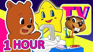 Kids 1 Hour TV Show | Busy Beavers BBTV S1 E3 & E4 | Teach Kindergarten Learning Video