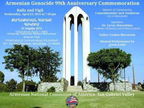 Fr. Vazken's Speech at Armenian Genocide Martyrs' Monument, Montebello 2014