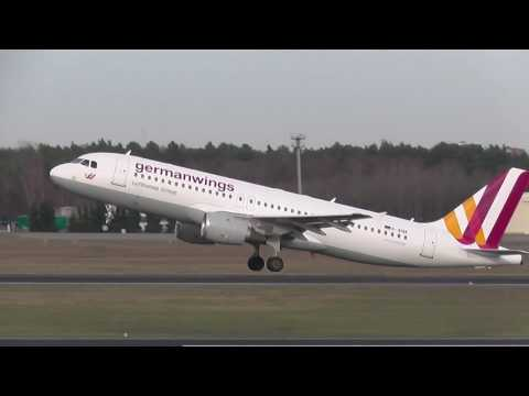 Germanwings Airbus A320-211 D-AIQK 4U 8836 takeoff at Berlin Tegel Airport