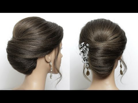 French Roll Updo for Medium Length Hair