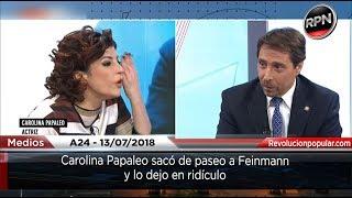 Carolina Papaleo sacó de paseo a Feinmann y lo dejo en ridículo