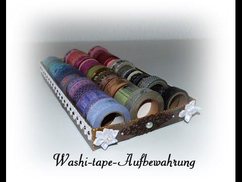 tutorial washi tape aufbewahrung youtube. Black Bedroom Furniture Sets. Home Design Ideas