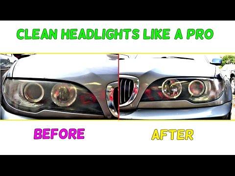 BMW E46 HOW TO MAKE HEADLIGHTS CLEAR LIKE NEW BMW E46