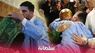 في حفل عقيقته.. ياسين يقبل رأس والدة دنيا بطمة وزوجته تذرف الدموع فوق العمارية