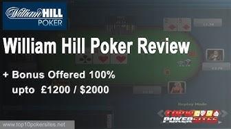 William Hill Poker Review  + Bonus Offered 100% upto £1200/$2000