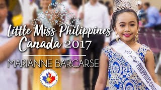 Little Miss Philippines Canada 2017 - Marianne Barcarse