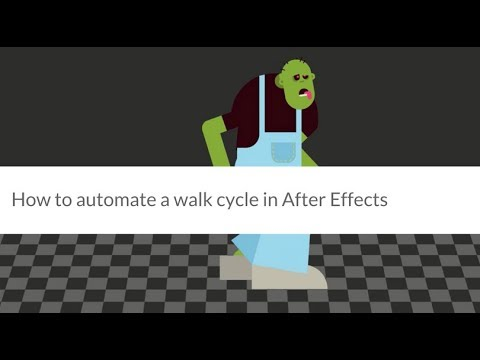 TUTORIAL: How to automate a walk cycle in After Effects