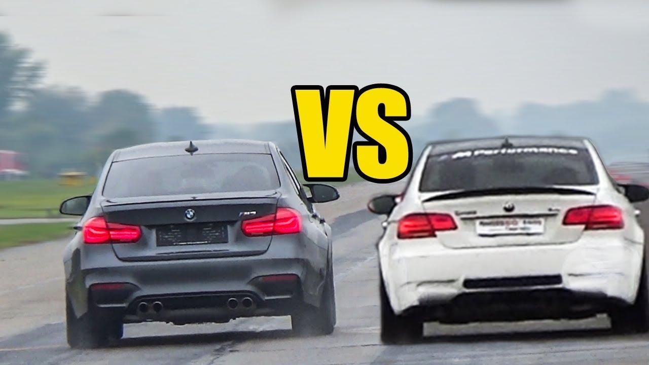 Bmw M3 F80 Vs Bmw M3 E92 Drag Race Youtube