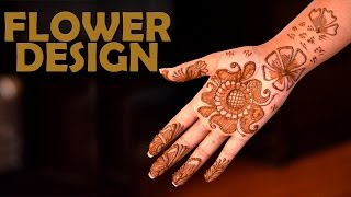 Henna Mehendi | Flower Design | Simple Mehendi Designs