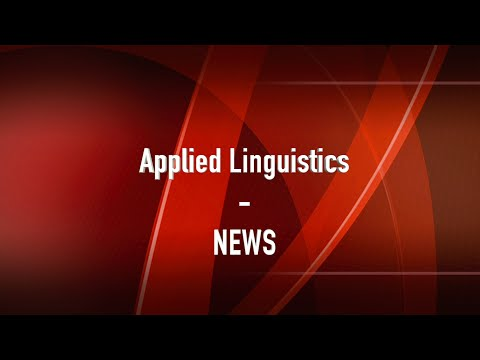 AL for students| Applied Linguistics - NEWS