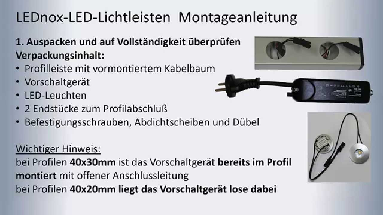 LEDNOX Montageanleitung - YouTube