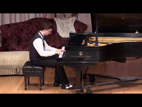 """Adam Swanson performing the """"Mississippi Rag"""" by William Krell"""