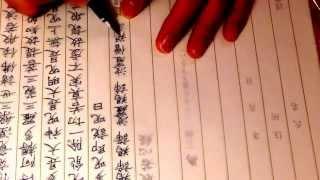 ナミキファルコン(万年筆)で写経してみた (Namiki Falcon+Buddhism) thumbnail