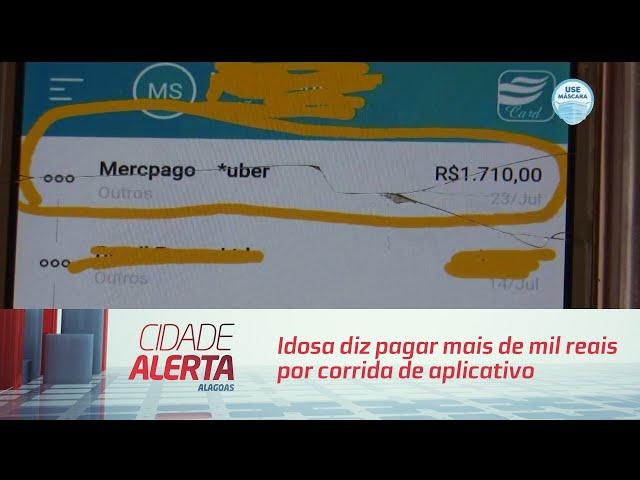 Golpe: Idosa diz pagar mais de mil reais por corrida de aplicativo
