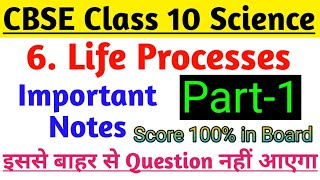 Science Notes Class 10 Chapter-6 Life Processes | Class-7 Free Regular Coaching Classes |