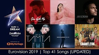 Eurovision 2019 | My Top 41 Songs (UPDATED)