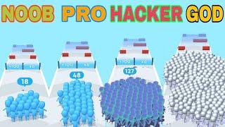 NOOB VS PRO VS HACKER VS GOD  in count Master:crowd clash &stick running game screenshot 3