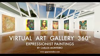 VIRTUAL ART GALLERY - EXPRESSIONIST PAINTINGS BY CARLOS MONTEIRO
