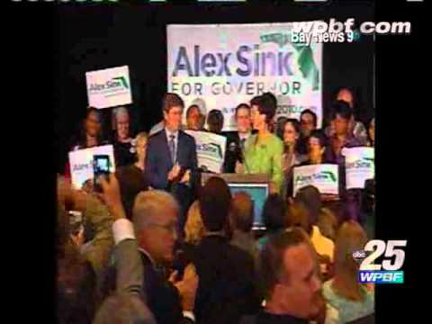 Raw Video: Dem. Gov. Candidate Alex Sink Gives Victory Speech