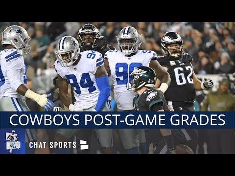 Cowboys vs Eagles: Grades For Ezekiel Elliott, Vander Esch, Jason Garrett, Linehan & Dak Prescott