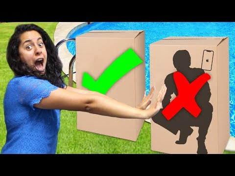 Don't push the WRONG BOX into the pool! (You choose!)