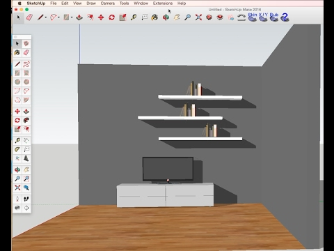 Sketchup Tutorial For Beginners DIY TVset Furniture Design YouTube New Sketchup Furniture Design