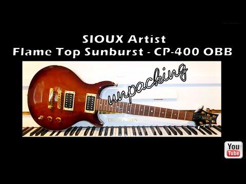 unpacking SIOUX Artist, Flame Top Sunburst - CP-400 OBB inkl. GigBag