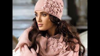 Женский комплект   шапка и шарф   2019   Women set   hat and scarf
