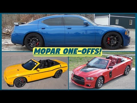 Mopar Rare One-Off Builds - Dodge Charger Manual & Challenger/Charger Convertibles!
