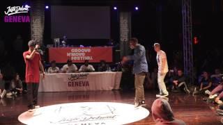1/4 Popping ▶︎ Bad Dogz vs Filip'oe & Patchek◀︎ Juste Debout Suisse 2017