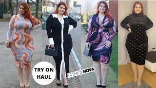 FashionNovaCurve dresses try on haul with Ioana Chira