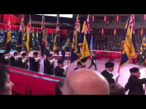 2016 Royal British Legion Festival of Remembrance, Royal Albert Hall- March on of The Standards
