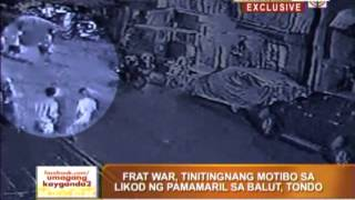Frat war eyed in Tondo shooting
