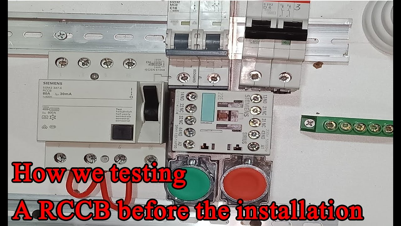 How To Test Rccb  Installation  Electrical Wiring