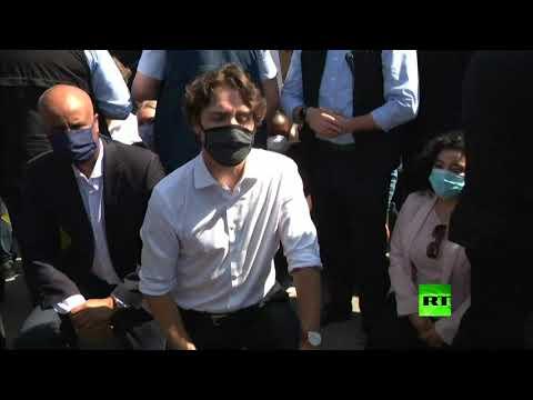 رئيس وزراء كندا ترودو يركع أثناء مظاهرة ضد العنصرية  - نشر قبل 9 ساعة