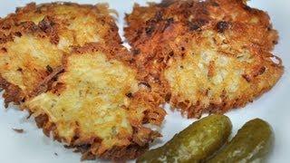 Polish Food - Traditional Potato Pancakes (thick grate) - Polish Cuisine