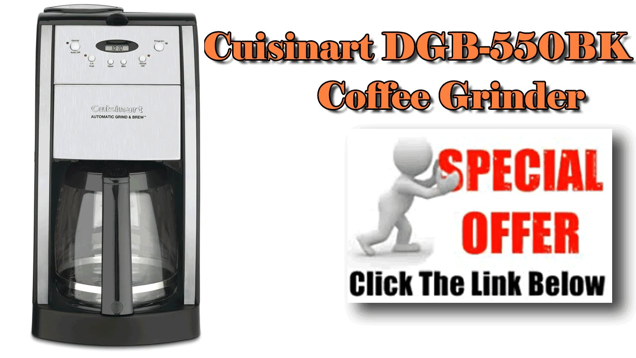 Cuisinart Coffee Maker - Cuisinart DGB-550BK Grind-and-Brew - YouTube