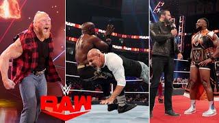 WWE Monday Night Raw 4th October 2021 Highlights Brock Lesnar Draft Roman reigns Goldberg Returns