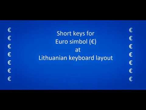 Euro symbol on Lithuanian keyboard