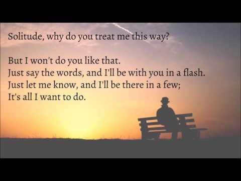 Solitude - Ella Wheeler Wilcox - Jacob Cong Arrangement