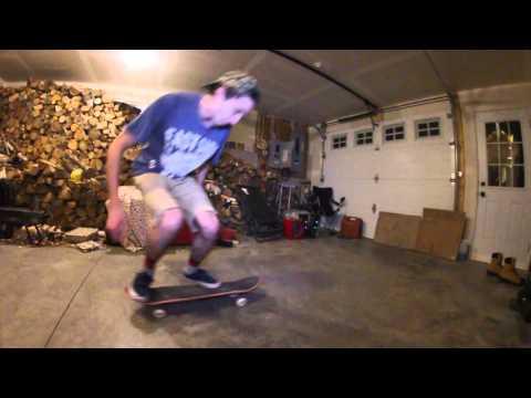 Winter Garage Skateboarding 2016