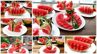 5 Watermelon Ideas Creątive Food Art and Cutting Tricks