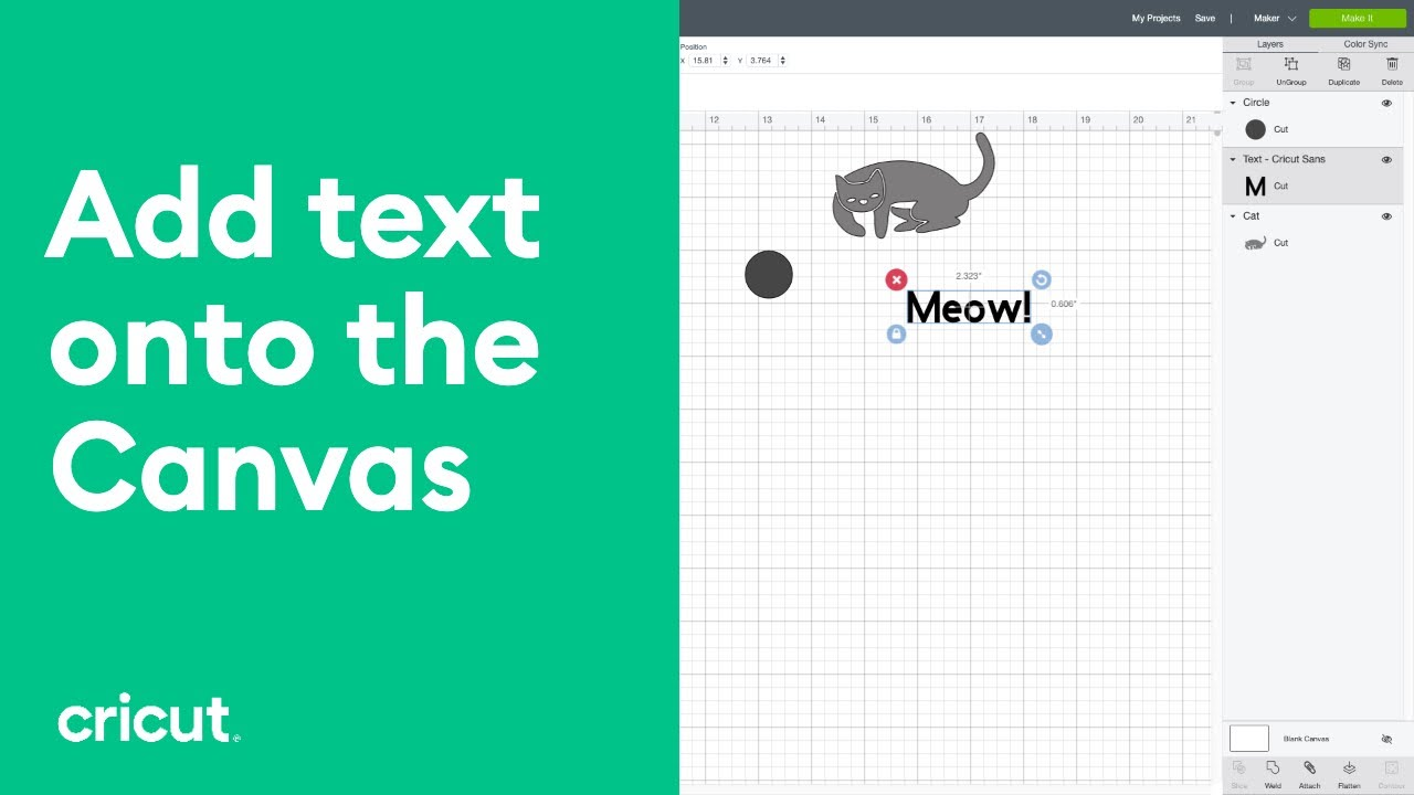 Adding Text to a Project - Working with Design Space - Tutorials for  Beginners